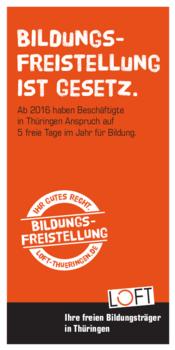 Cover zum LOFT-Flyer zur Bildungsfreistellung