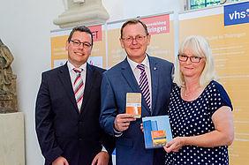 Dr. Claudio Kullmann (LOFT), Bodo Ramelow (Ministerpräsident), Sylvia Kränke (TVV)