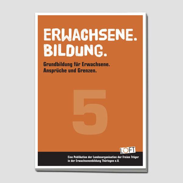 """Publikation 5 """"Erwachsene. Bildung."""""""