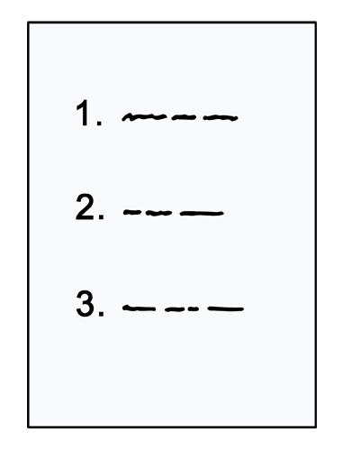 Papier mit Positionen